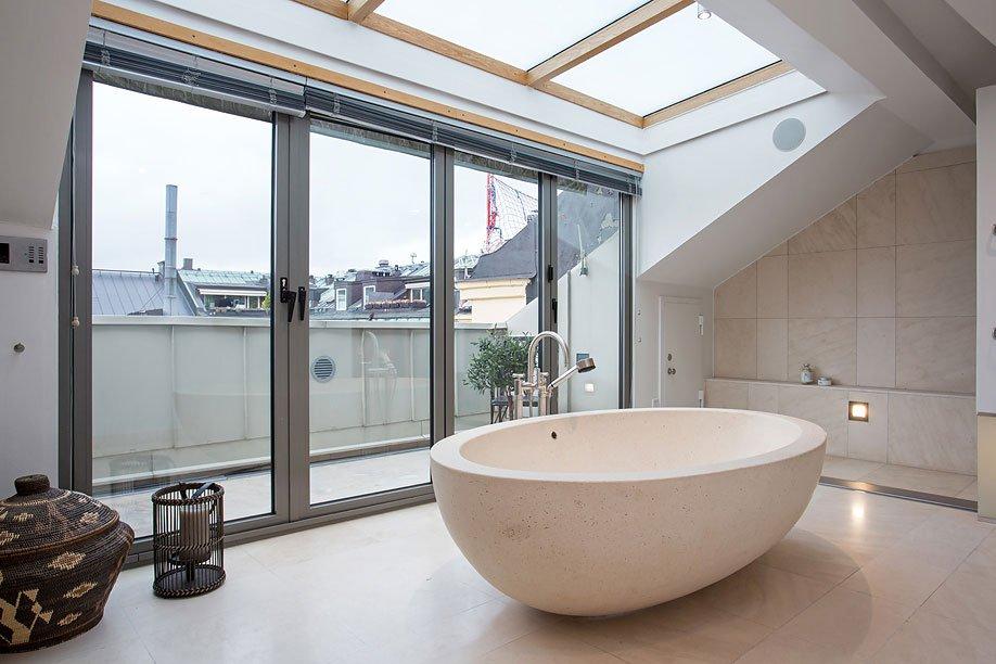 Elegant Scandinavian Loft Design By Karlaplan Caandesign