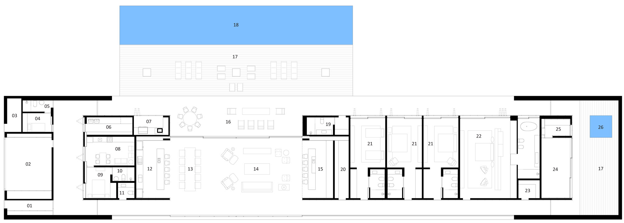 Open layout house concept by studio mk27 -  Lee House 35