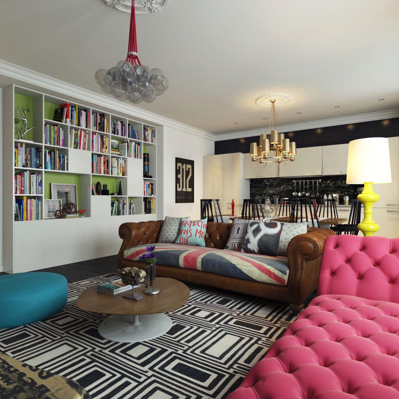 Modern Pop Art Interior By Dmitriy Schuka Home Design