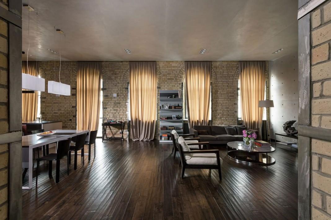 Podil Loft Apartment by Sergey Makhno