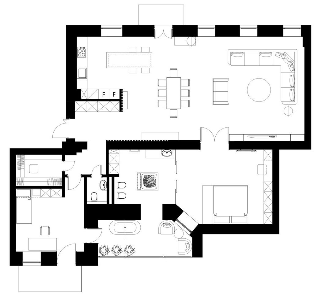 The Next Big Trend Separated Kitchensbuilddirect Blog: Podil Loft Apartment By Sergey Makhno