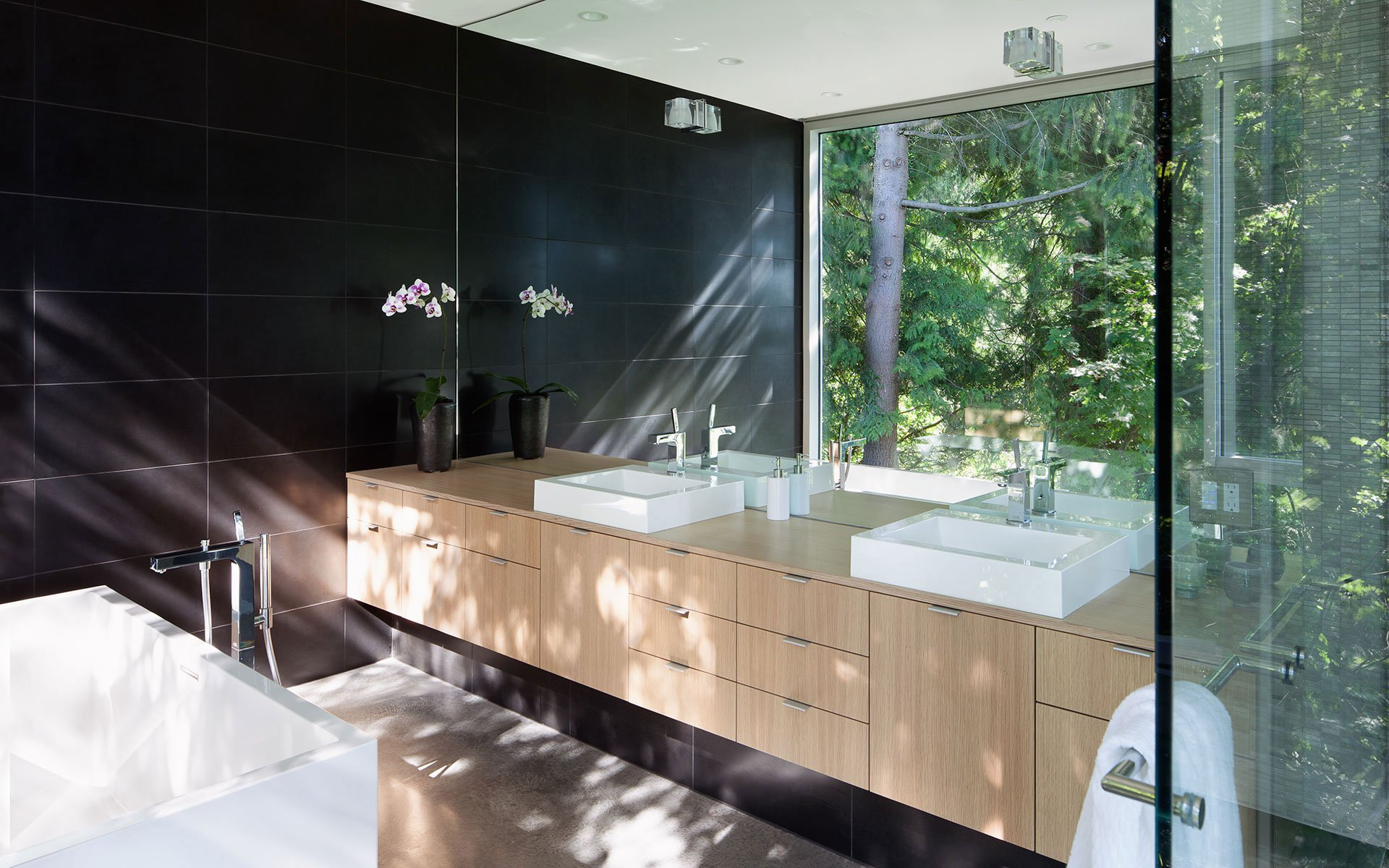 One Way Glass Bathroom Home Decoration Ideas