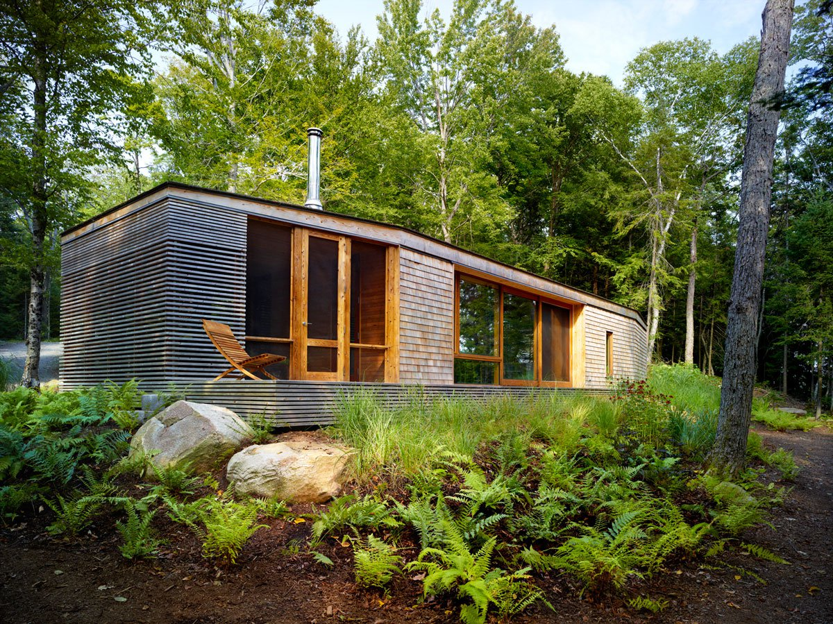 Stealth cabin by superk l architects caandesign architecture and home design blog - The chapel cottage historic vestige in contemporary lines ...