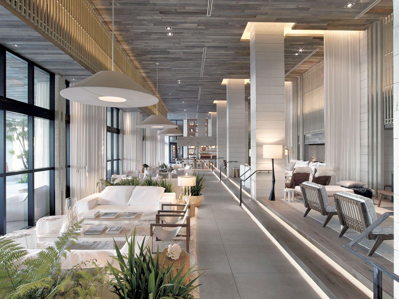 Office lobby interior meyer design inc - 1 Hotel South Beach 05