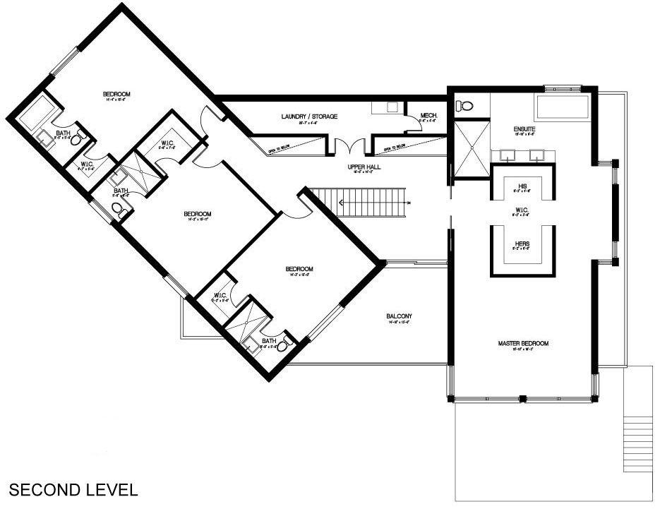 20 Taylorwood Drive Residence in Toronto - CAANdesign ... on angled floor plans, linear floor plans, z shaped cross sections, z shaped roof plans,