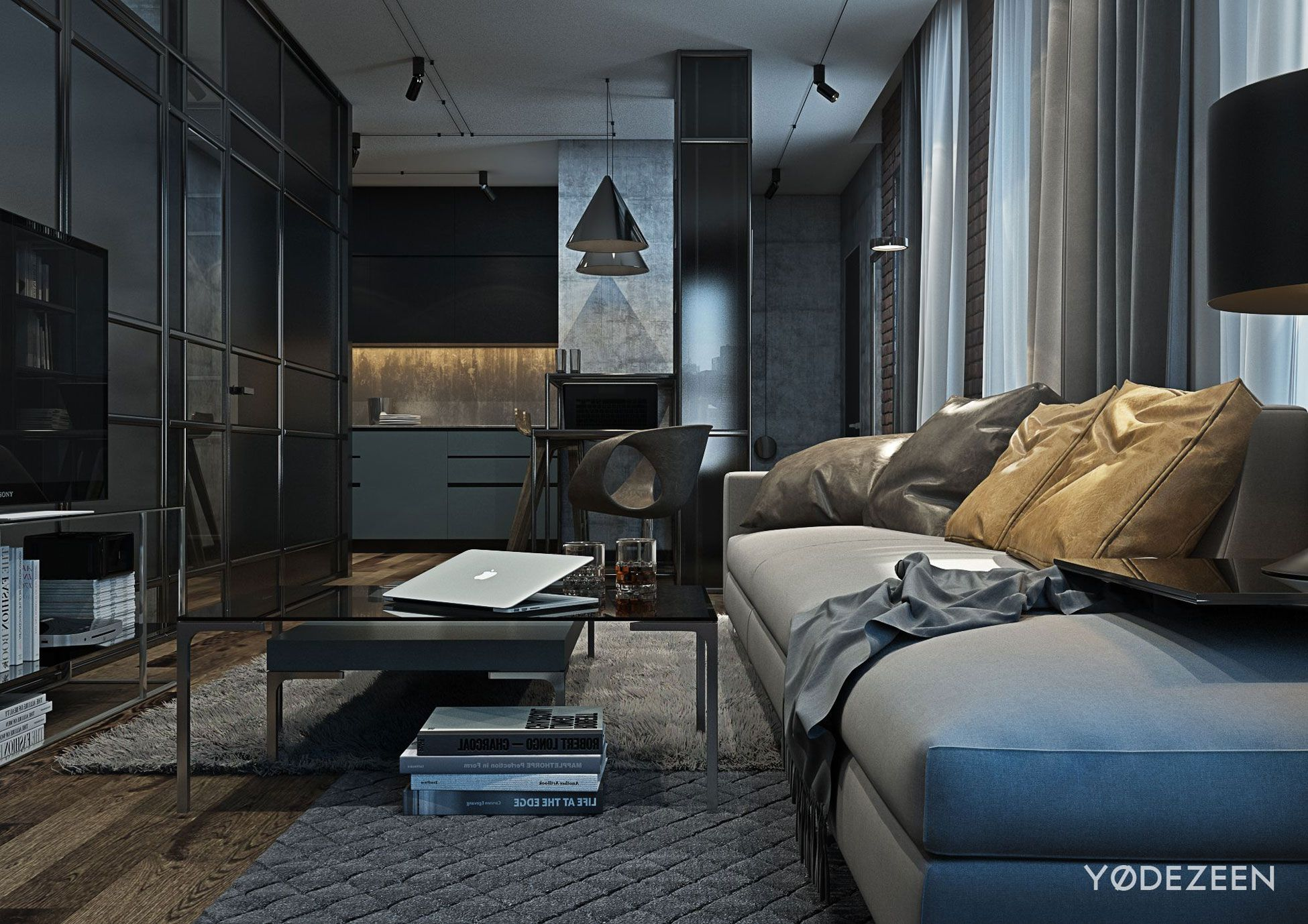 loft apartment in brooklyn by yodezeen caandesign. Black Bedroom Furniture Sets. Home Design Ideas