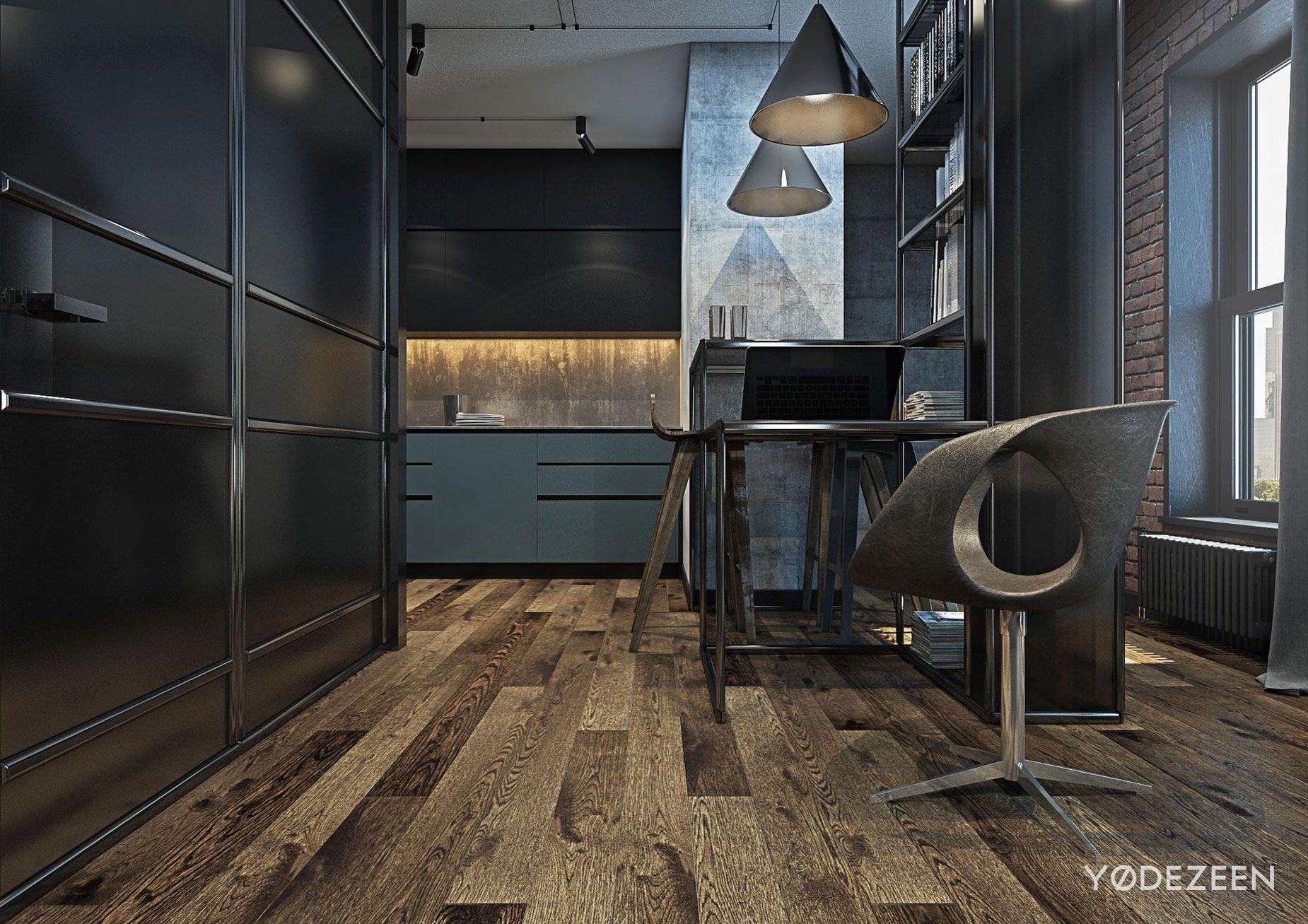 loft apartment in brooklyn by yodezeen caandesign. Black Bedroom Furniture Sets. Home Design Ideas