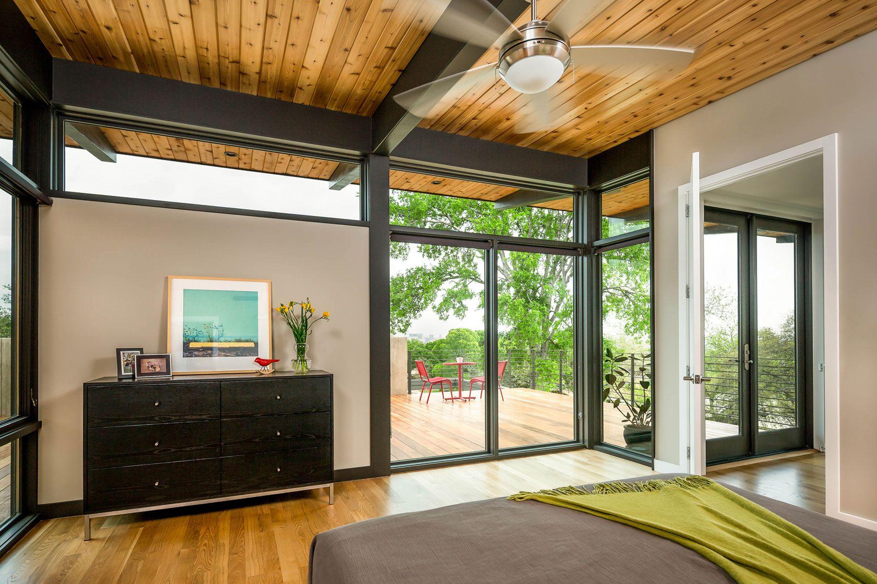 wooden bedroom celing