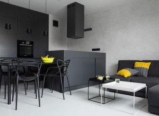 Concrete Concept Apartment by Kasia Orwat