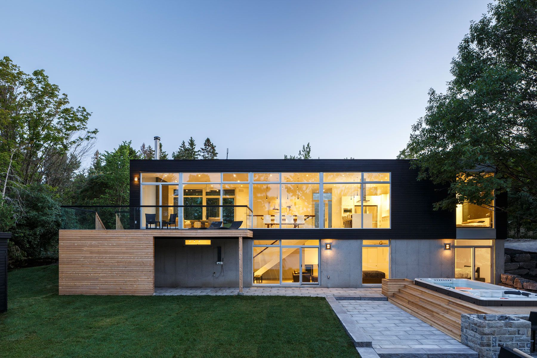 Contemporary Dunrobin Shore Residence-22