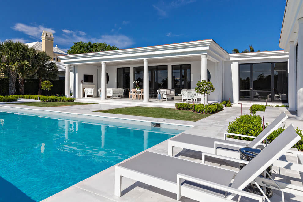 Contemporary White Estate in Palm Beach Keating Moore-04