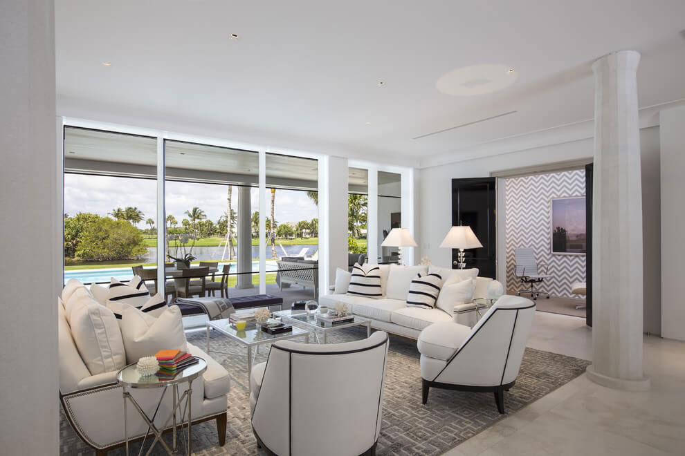 Contemporary White Estate in Palm Beach Keating Moore-10