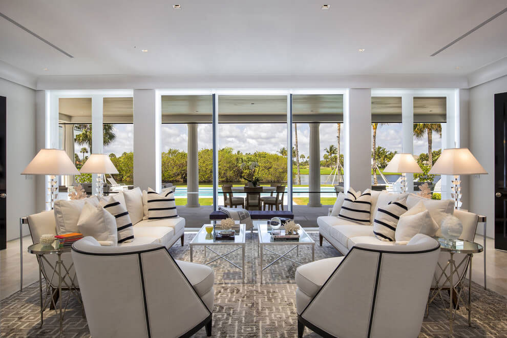 Contemporary White Estate in Palm Beach Keating Moore-11