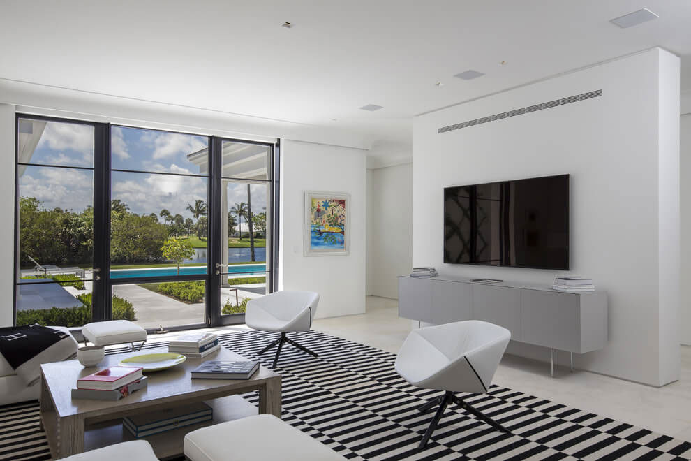 Contemporary White Estate in Palm Beach Keating Moore-12