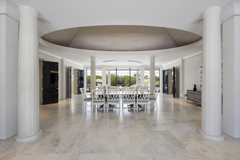 Contemporary White Estate in Palm Beach Keating Moore-16