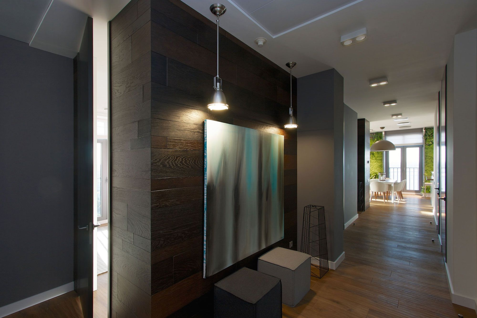 Green Grass Walls Apartment by SVOYA Studio-01