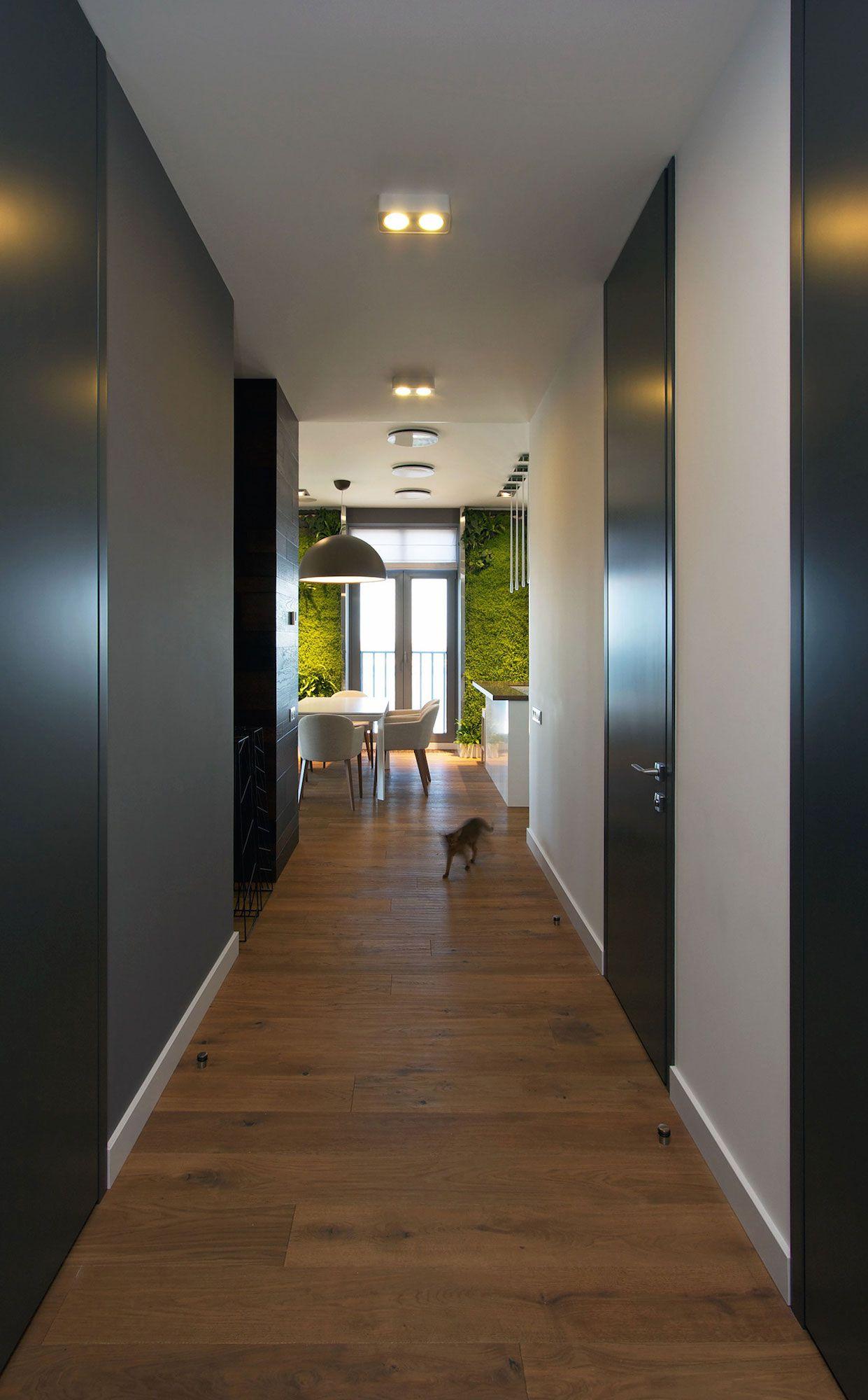 Green Grass Walls Apartment by SVOYA Studio-02