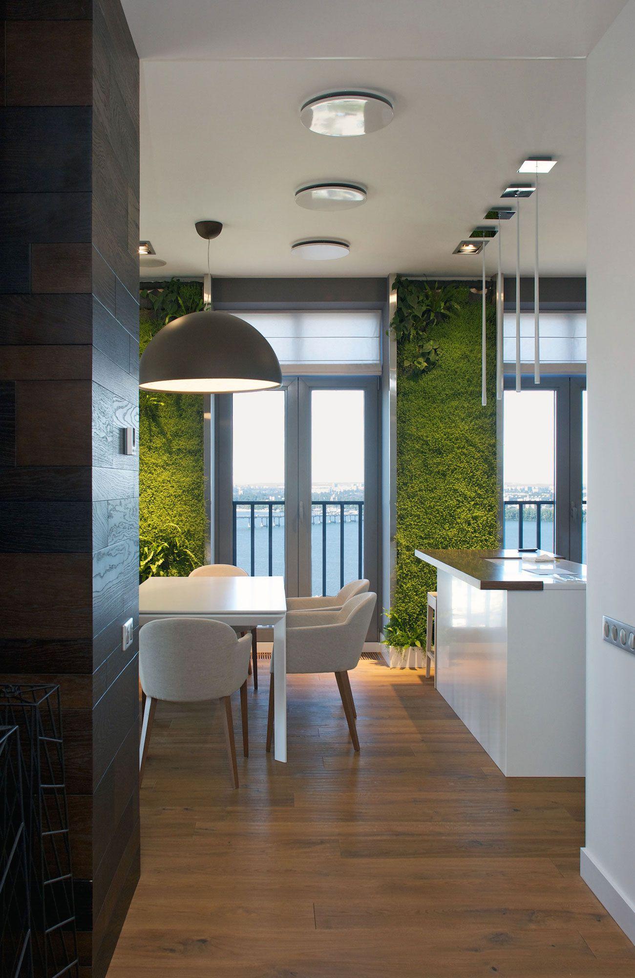Green Grass Walls Apartment by SVOYA Studio-03