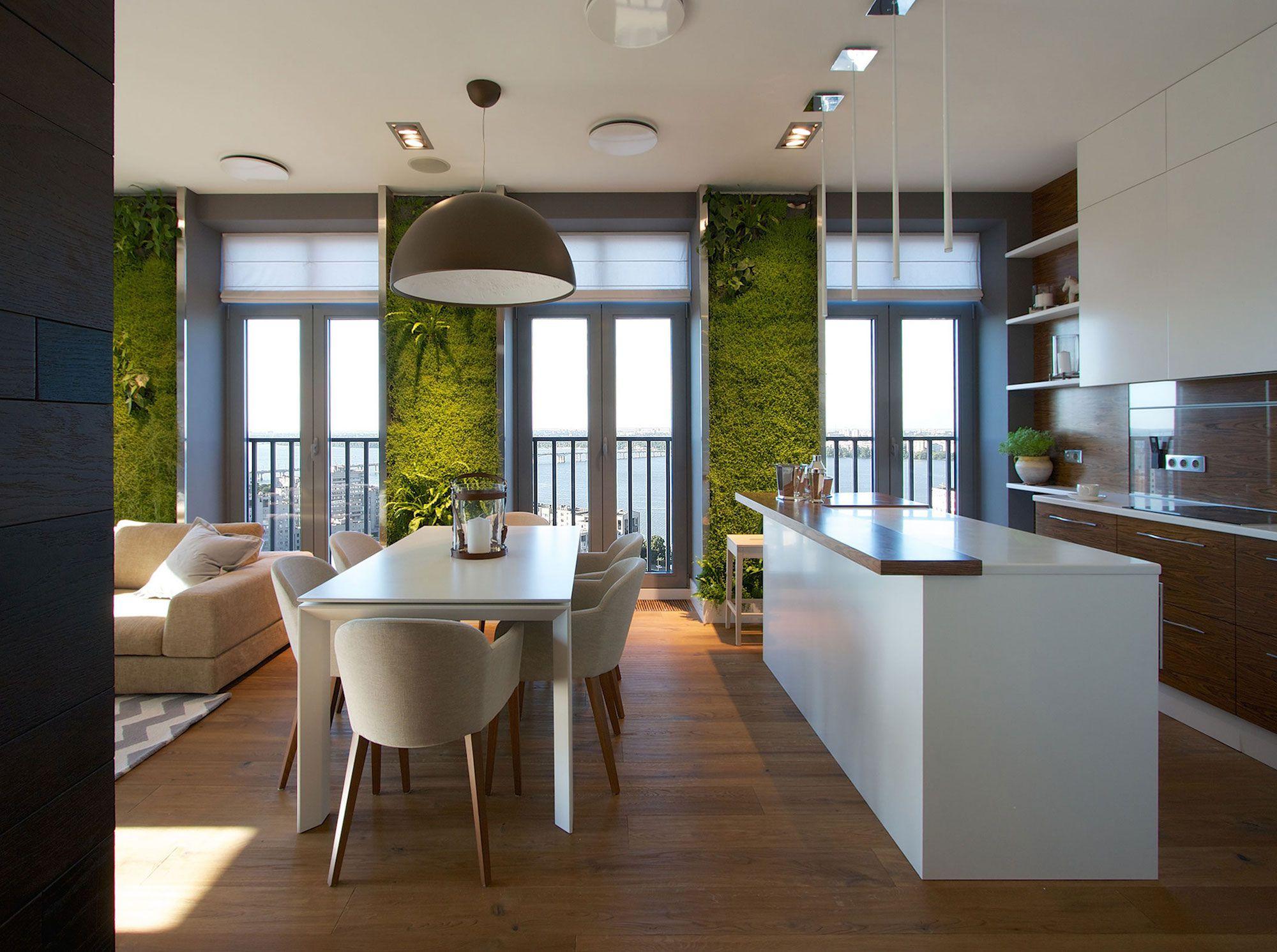 Green Grass Walls Apartment by SVOYA Studio-04