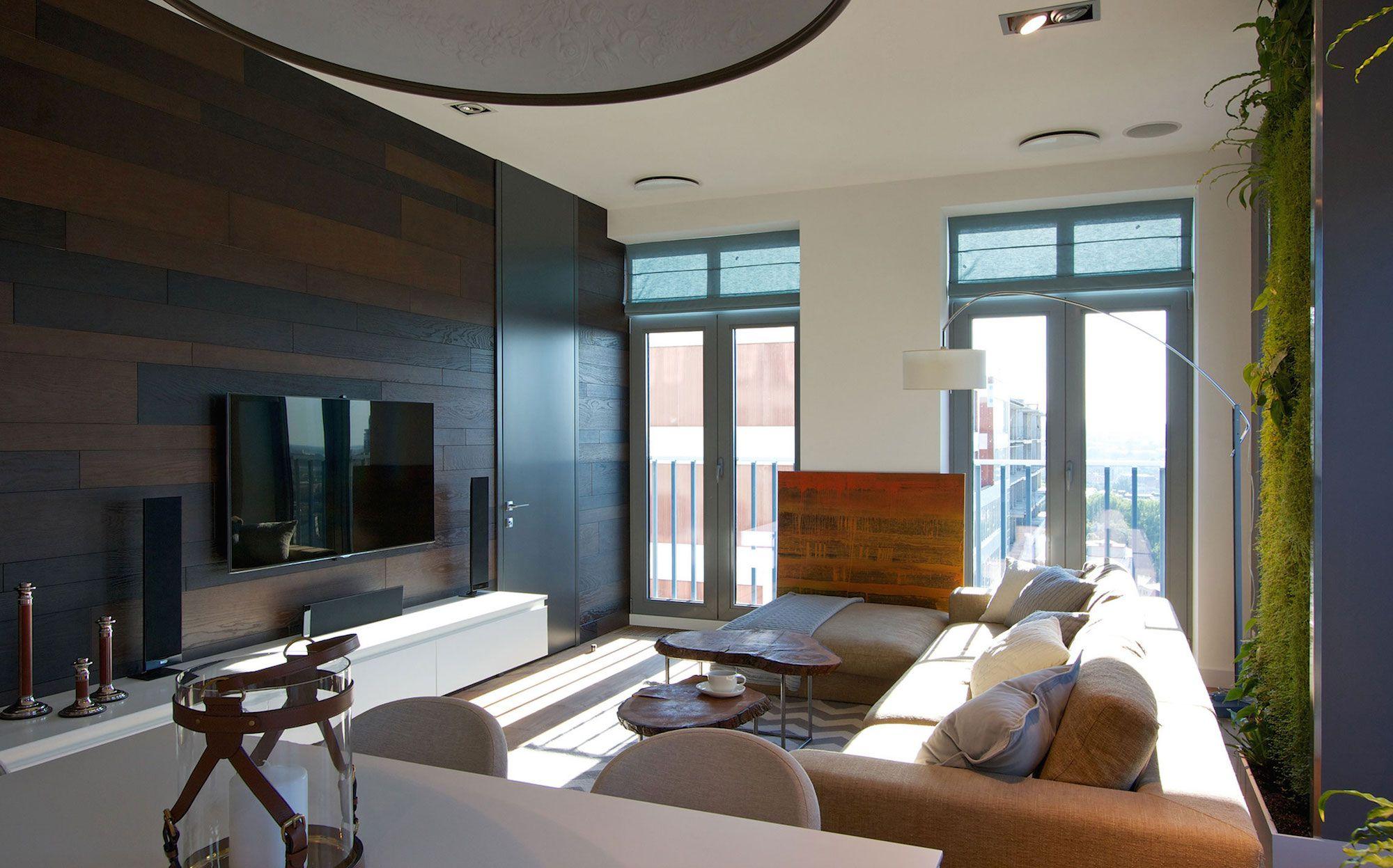 Green Grass Walls Apartment by SVOYA Studio-05