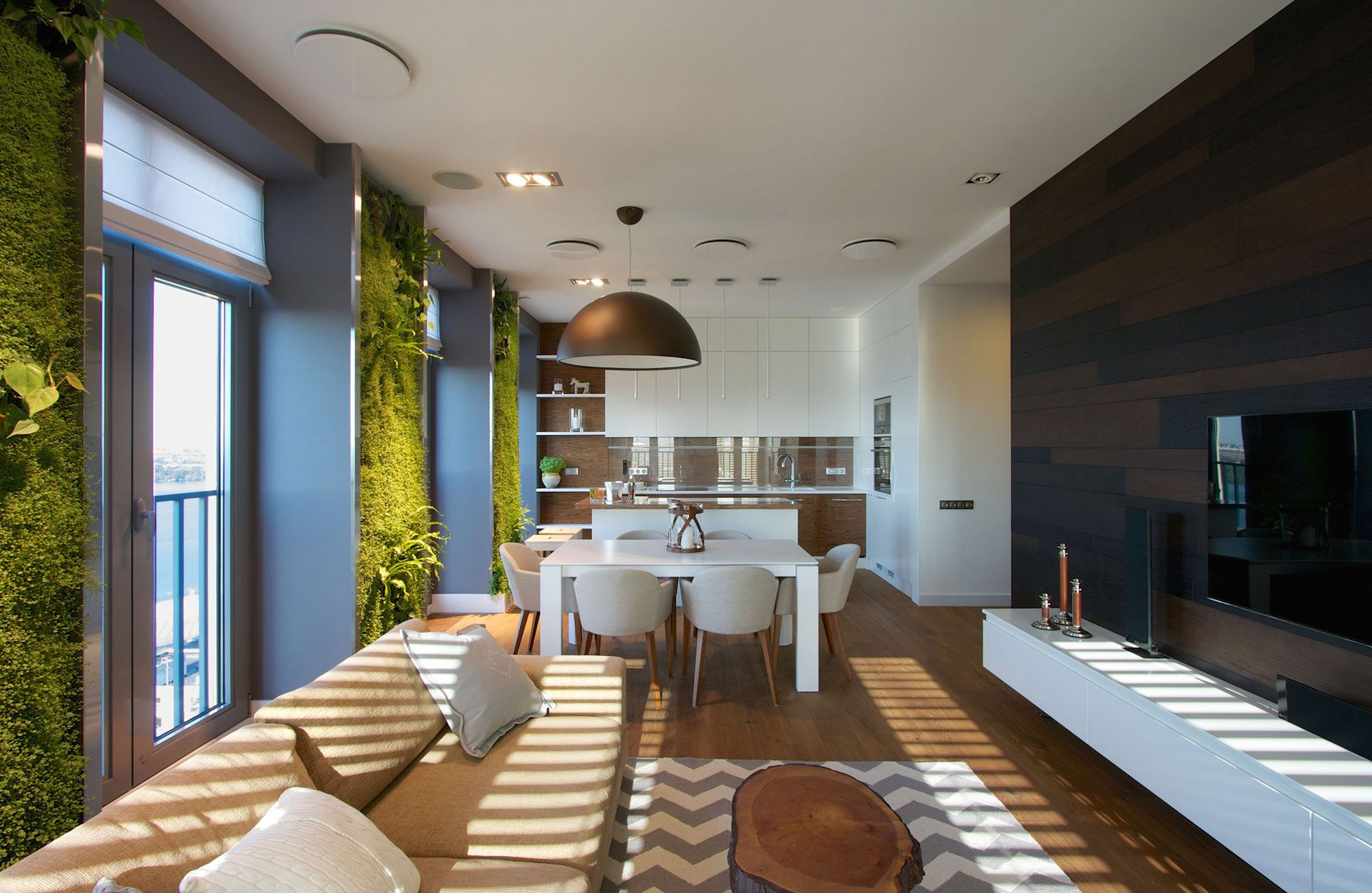 Green Grass Walls Apartment by SVOYA Studio-07
