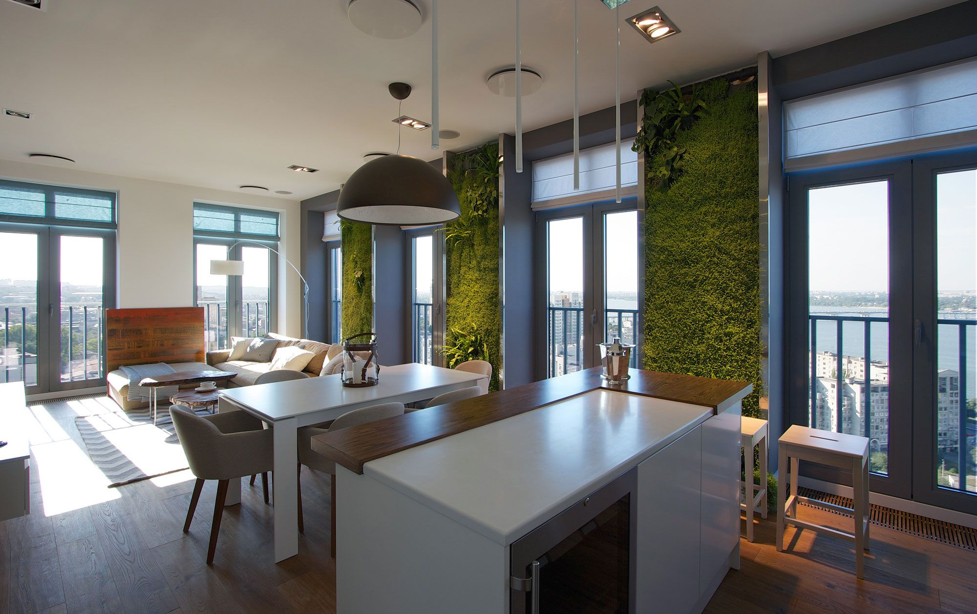 Green Grass Walls Apartment by SVOYA Studio-08