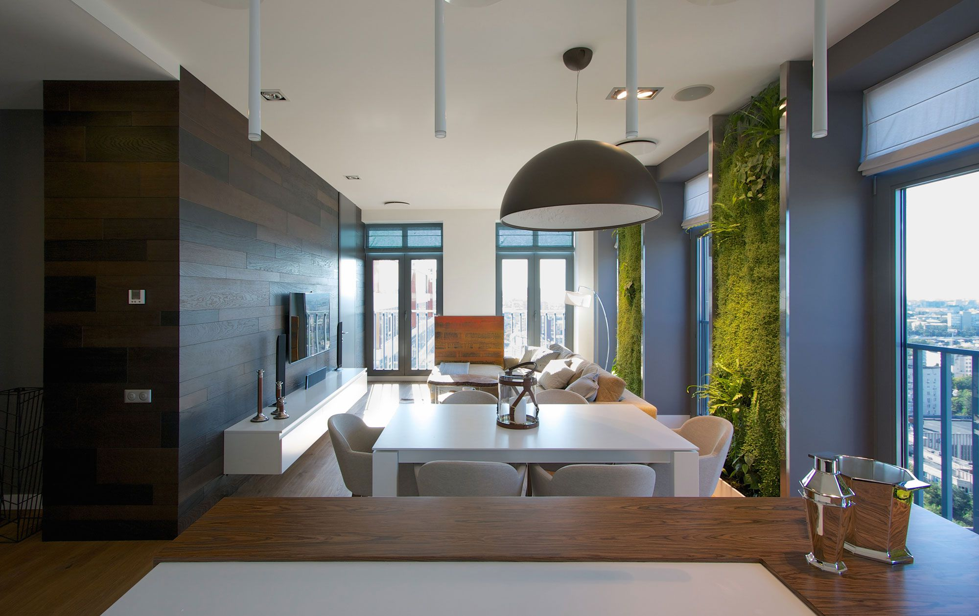 Green Grass Walls Apartment by SVOYA Studio-09