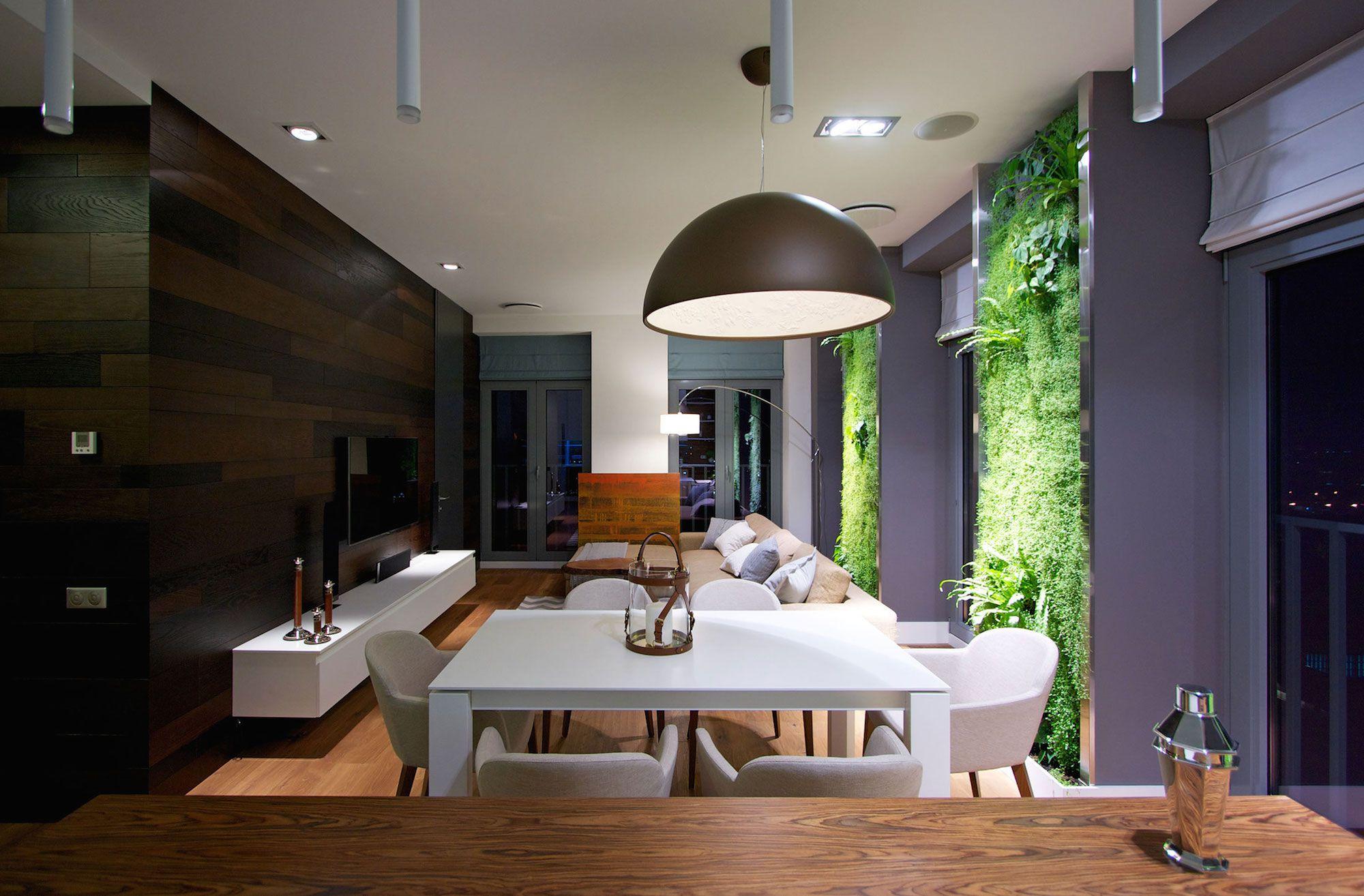 Green Grass Walls Apartment by SVOYA Studio-17