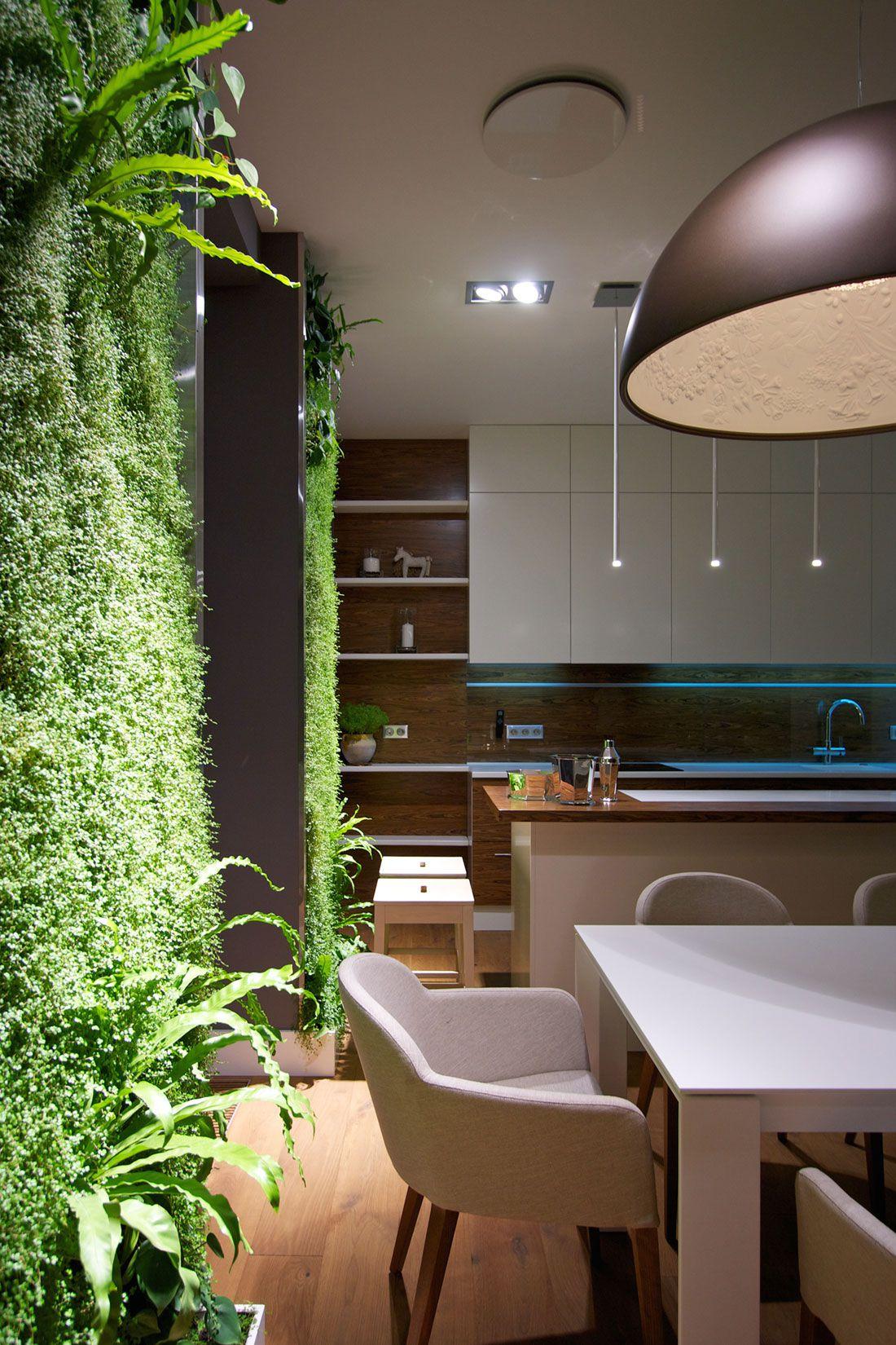 Green Grass Walls Apartment by SVOYA Studio-18