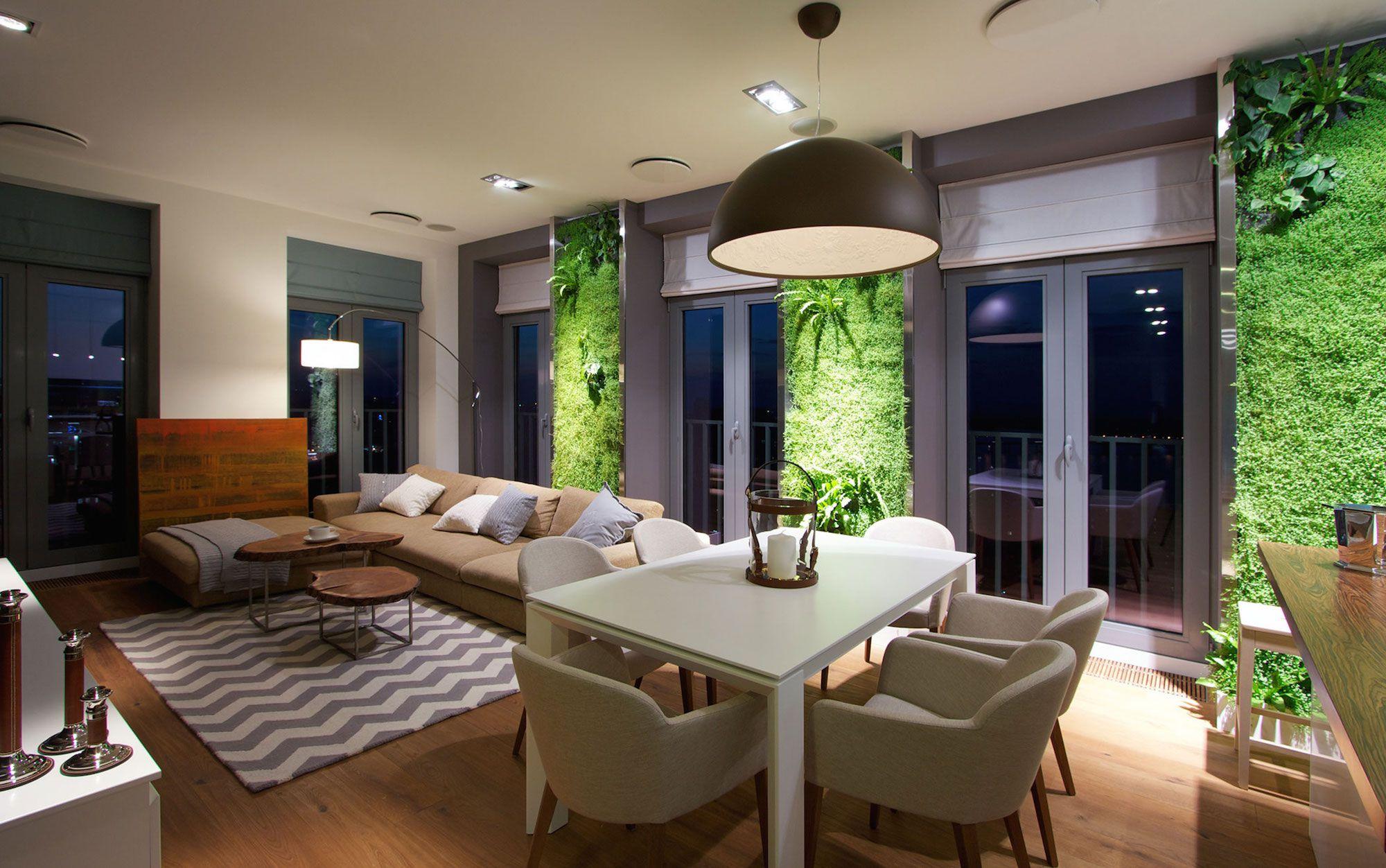 Green Grass Walls Apartment by SVOYA Studio-19