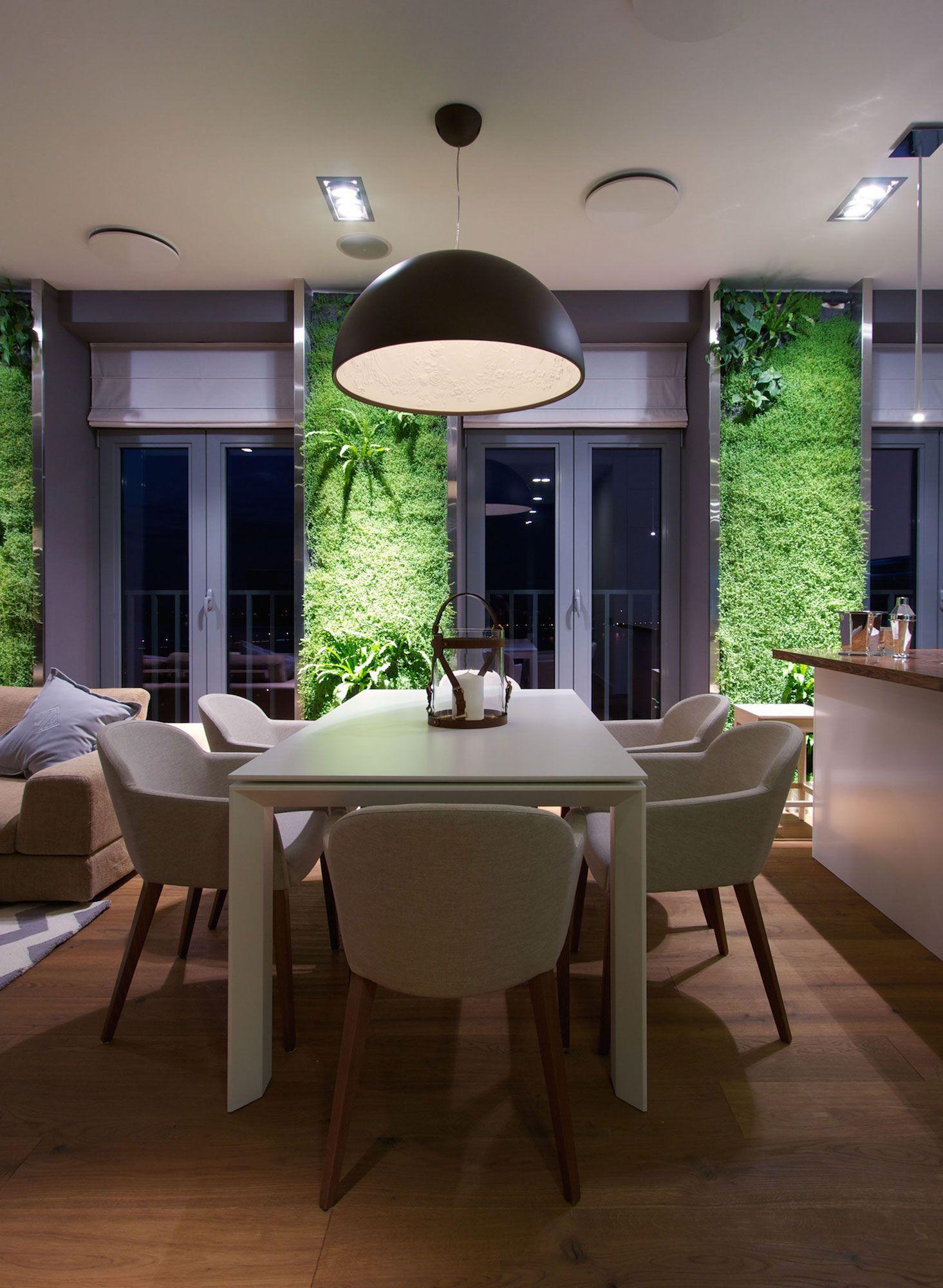 Green Grass Walls Apartment by SVOYA Studio-20