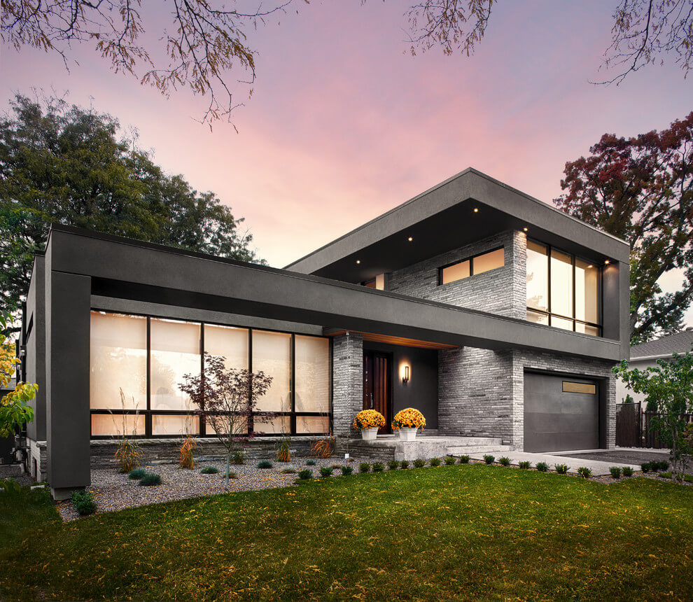 Two story mid century modern house plans for Contemporary home plans 2015