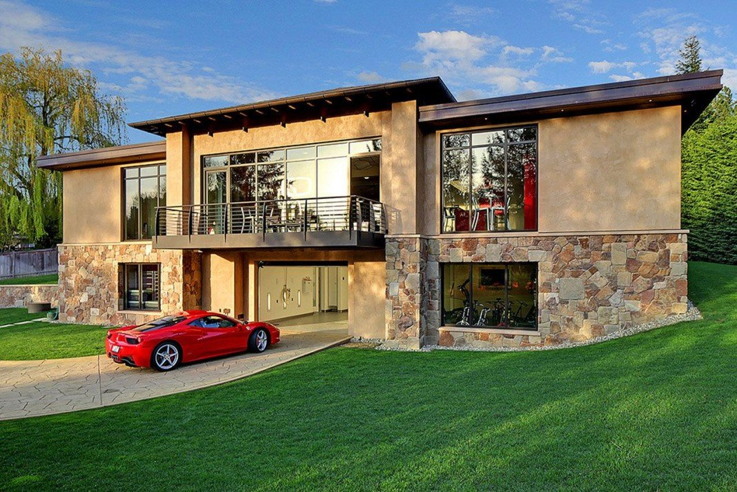 . Modern Home Design Seen from a Fancy Car Addicted who has a