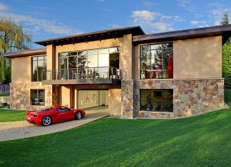Modern Home Design Seen from a Fancy Car Addicted who has a 16-car garage