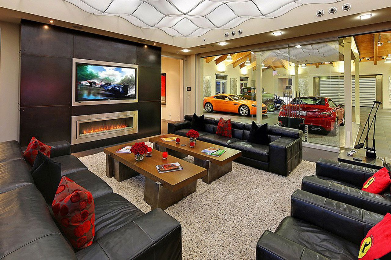... Modern Home Design Seen From A Fancy Car Addicted Who Has A 16 Car  Garage ...