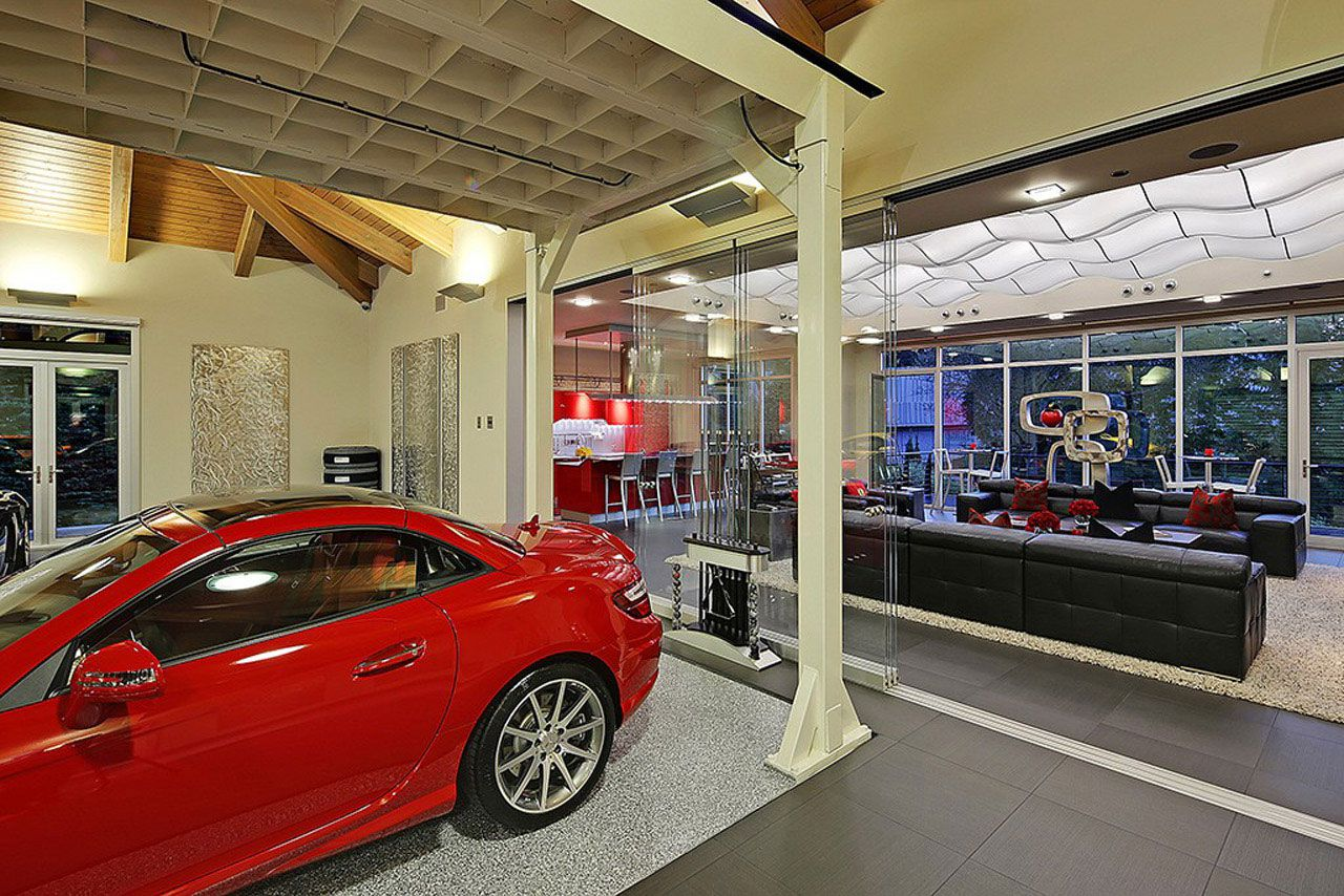Modern Home Design Seen from a Fancy Car Addicted who has a 16-car garage-13