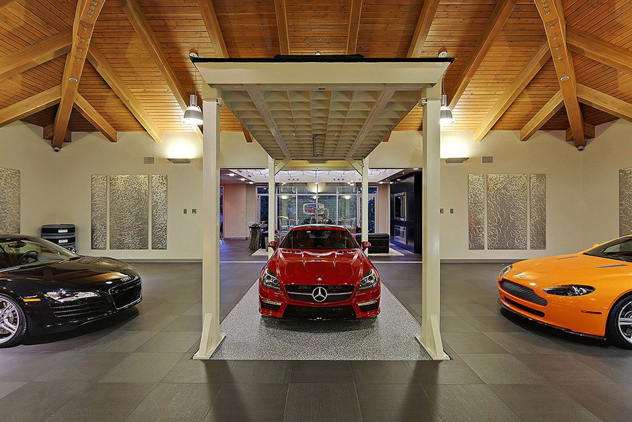 Modern Home Design Seen from a Fancy Car Addicted who has a 16-car garage-14