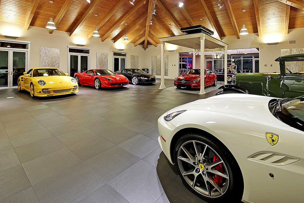 Modern Home Design Seen from a Fancy Car Addicted who has a 16-car garage-15