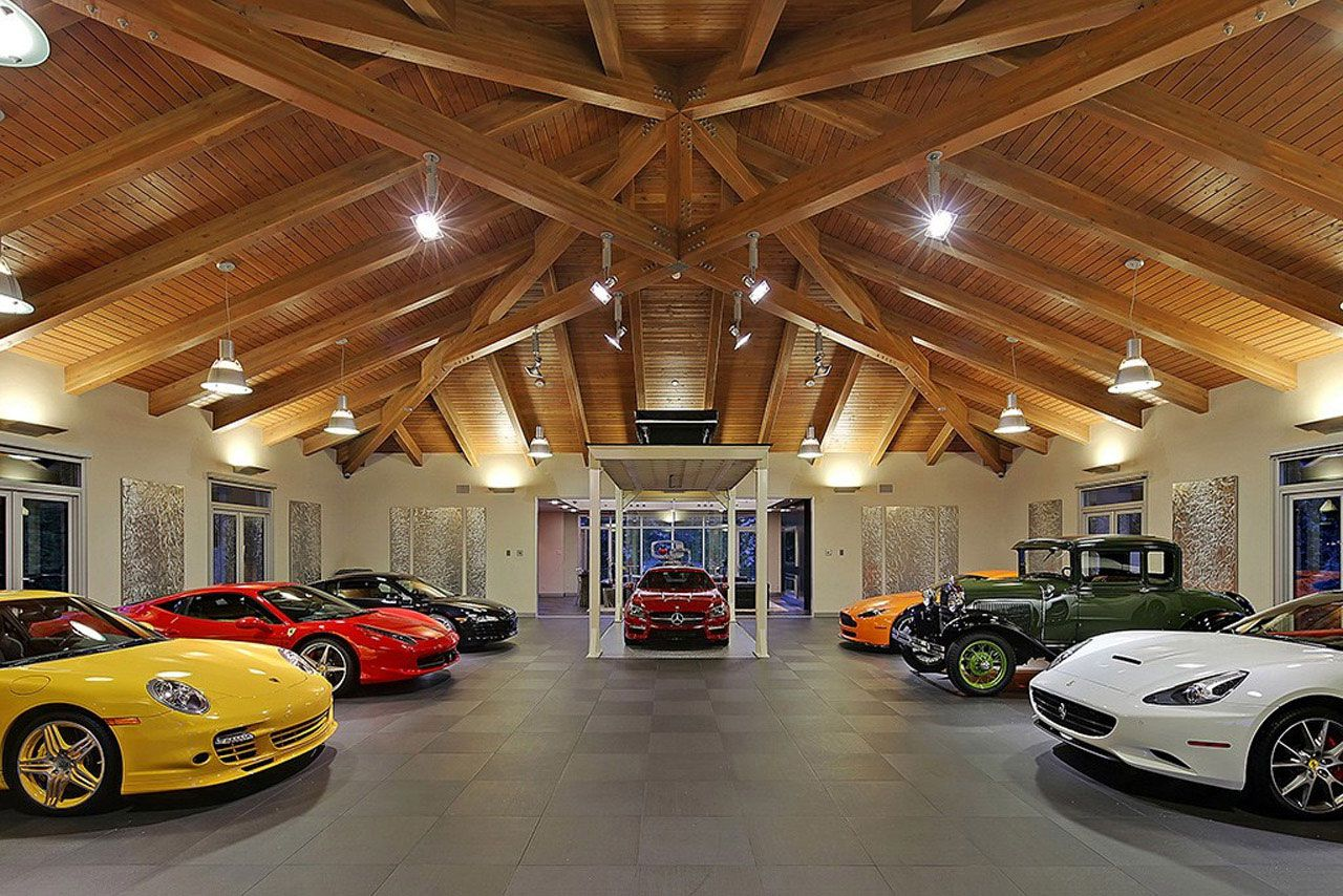 Modern Home Design Seen from a Fancy Car Addicted who has a 16-car garage-16
