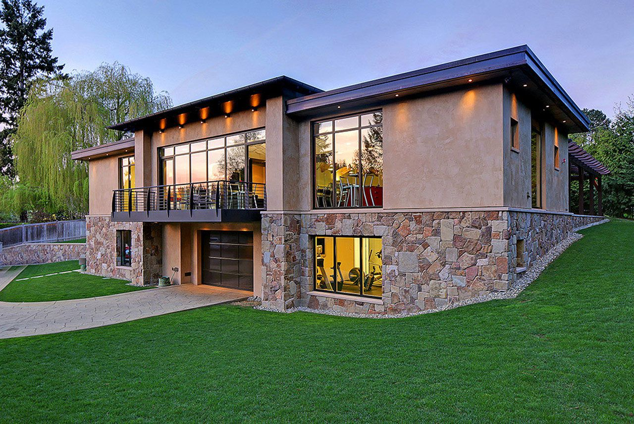 Modern Home Design Seen from a Fancy Car Addicted who has a 16-car garage-19
