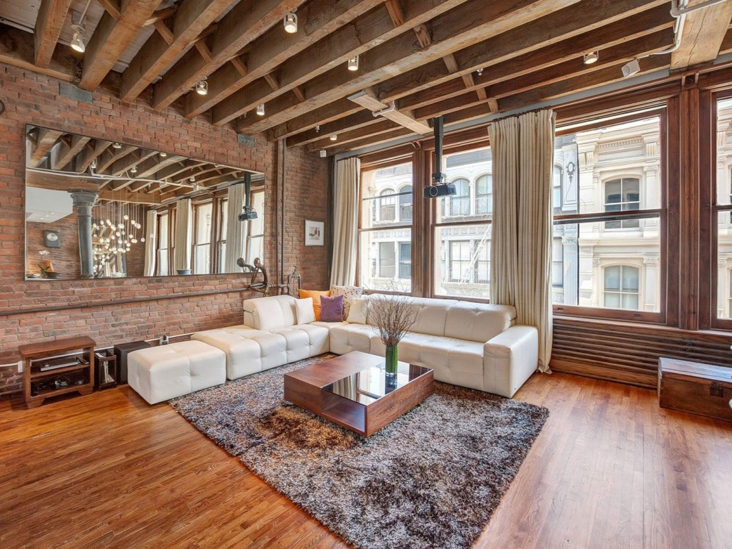 Ultimate Soho Exposed Brick and Wood Beams Loft on Prince Street in New York