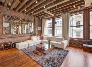 Ultimate Soho Exposed Brick and Wood Beams Loft on Prince Street in New York