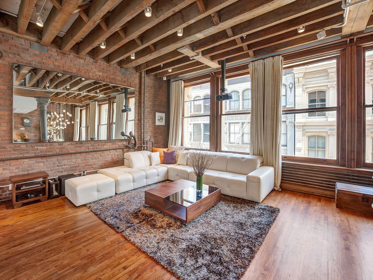 Ultimate Soho Exposed Brick and Wood Beams Loft on Prince Street in New York-03