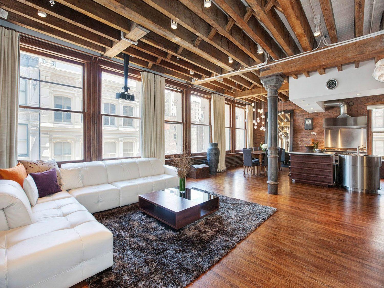 Ultimate Soho Exposed Brick and Wood Beams Loft on Prince Street in New York-04