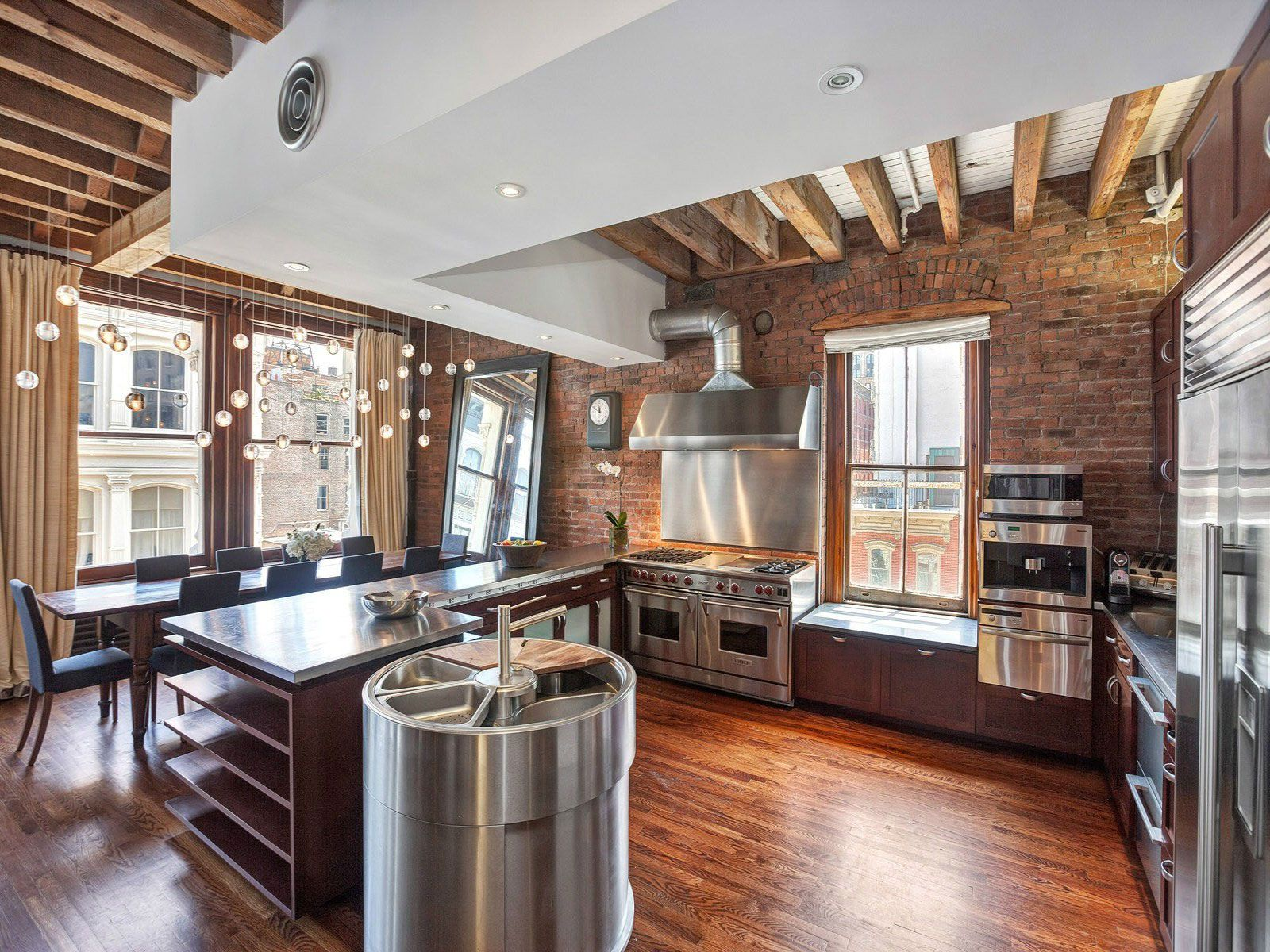 Ultimate soho exposed brick and wood beams loft on prince Brick and wood house