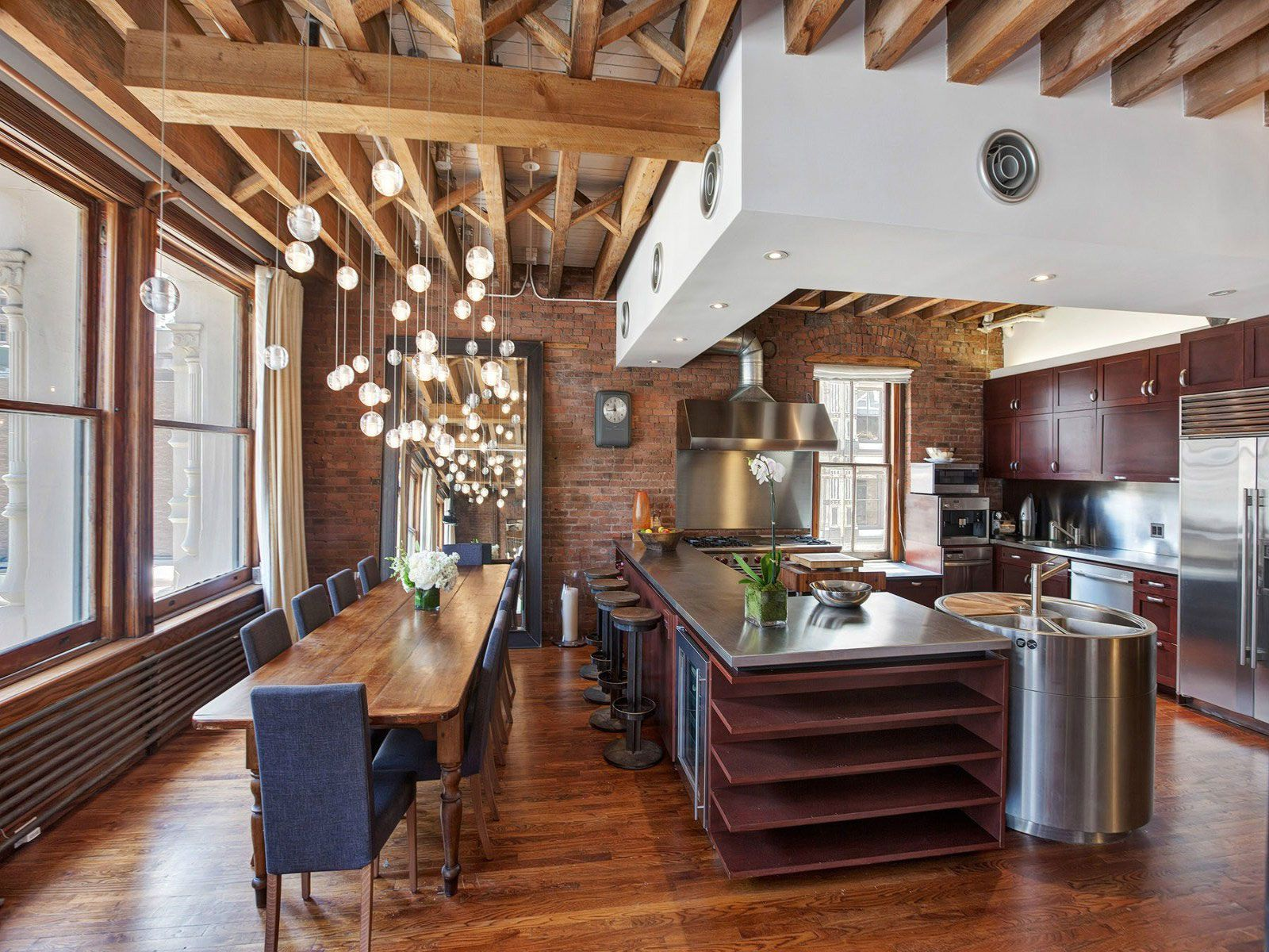 Ultimate Soho Exposed Brick And Wood Beams Loft On Prince