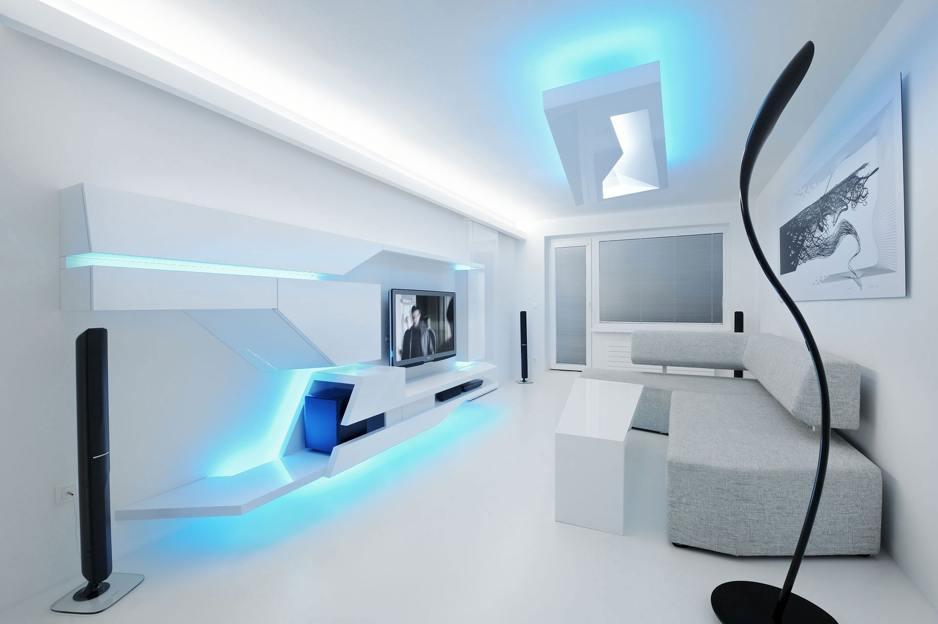White apartment by next level studio caandesign for Next level homes
