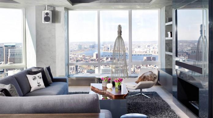 Chic Boston Apartment by ZEN Associates