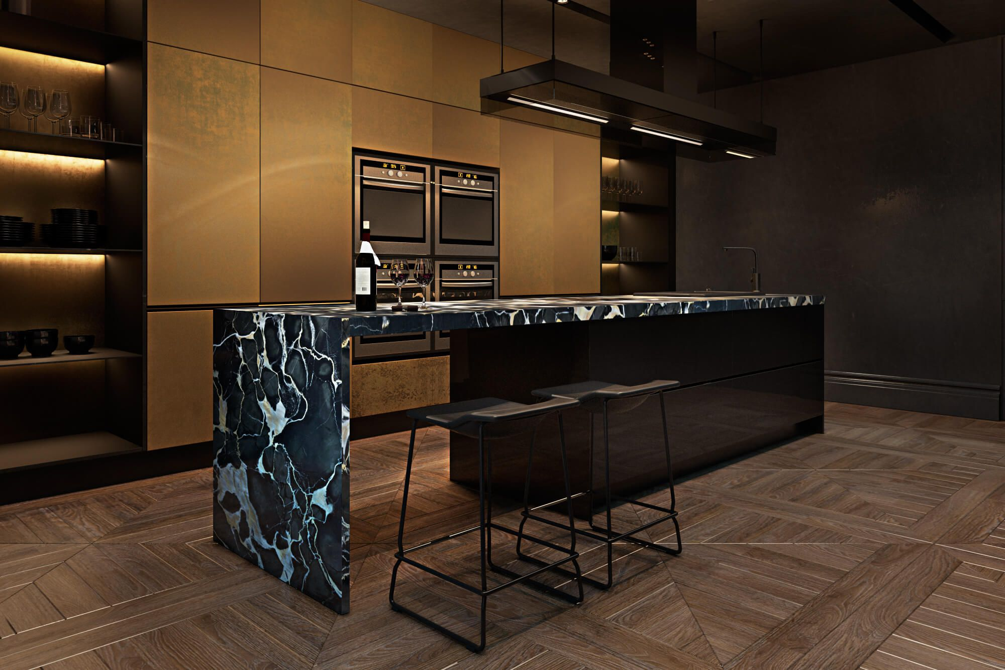 Contemporary apartment in paris by iryna dzhemesiuk for Designer apartment paris