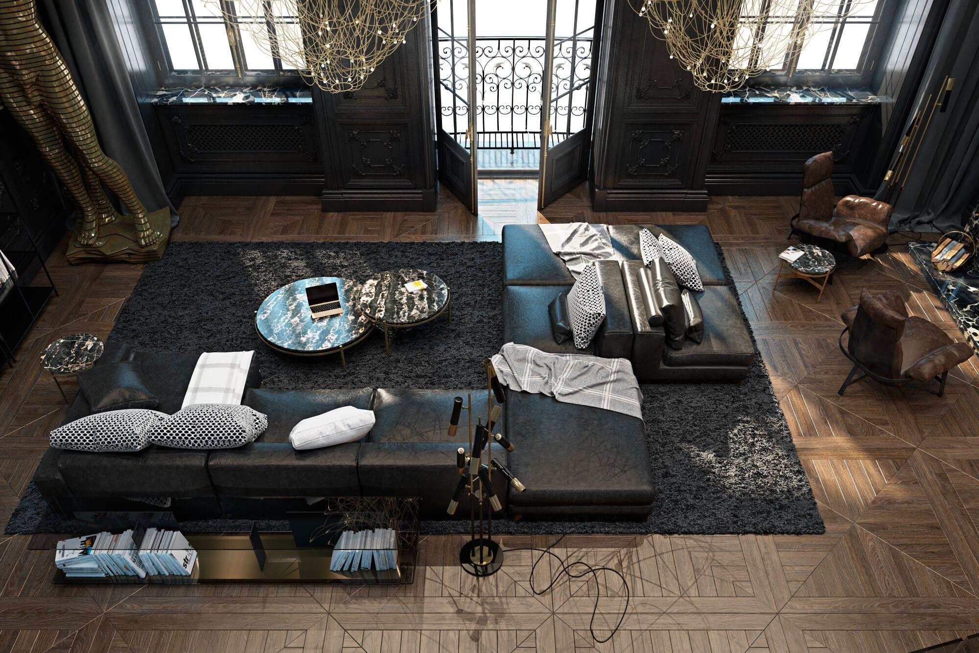 contemporary apartment in parisiryna dzhemesiuk & vitaliy